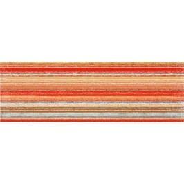 Dekor Rako Tendence červenooranžová 20x60 cm, lesk WITVE007.1