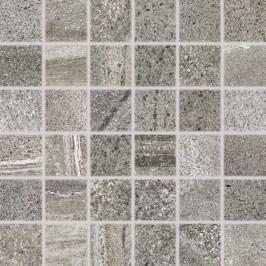Mozaika Rako Random tmavě šedá 30x30 cm, mat, rektifikovaná DDM06679.1