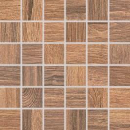 Mozaika Rako Board hnědá 30x30 cm, mat, rektifikovaná DDM06143.1