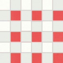 Mozaika Rako Tendence bíločervená 30x30 cm, pololesk WDM06153.1