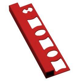 Lišta ukončovací hranatá PVC červená, 8 mm, 250 cm LH82507