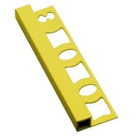 Lišta ukončovací hranatá PVC žlutá, 8 mm, 250 cm LH8250Y