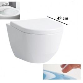 Závěsné WC Laufen Laufen Pro, zadní odpad, 49cm H8209654000001