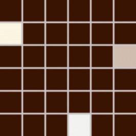 Mozaika Rako Concept Plus hnědá 30x30 cm, lesk WDM05009.1