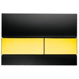 Ovládací tlačítko Tece Square sklo, zlatá 9.240.808