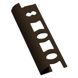 Lišta ukončovací oblá PVC tmavě hnědá, 10 mm, 250 cm L10250H