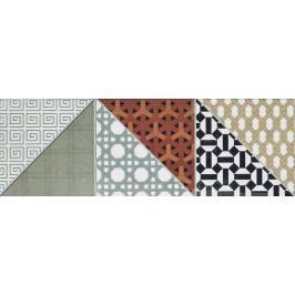 Dekor Rako Deco mix barev 15x45 cm, mat, rektifikovaná DDPPD659.1