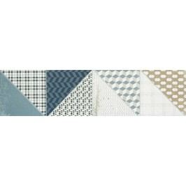 Dekor Rako Deco mix barev 15x60 cm, mat, rektifikovaná DDPSU659.1