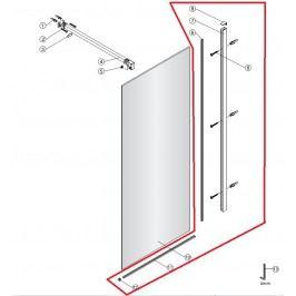 Profil na zeď(2m)+podlahu(1,6m) SIKOWIPROFIL
