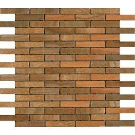 Premium Mosaic Stone Mozaika oranžové cihly 1,5x7,5 cm 30,5x30,5 cm STMOS1575ORW