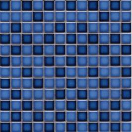 Premium Mosaic Stone Keramická mozaika MIX modrá 2,3x2,3 cm MOS23MIXBL