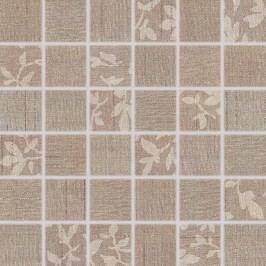 Mozaika Rako Textile hnědá 30x30 cm, mat WDM05103.1