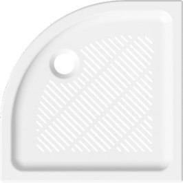 Jika Sprchová vanička čtvrtkruhová 80x80 cm, R 550, keramika 8.5272.3.000.000.3