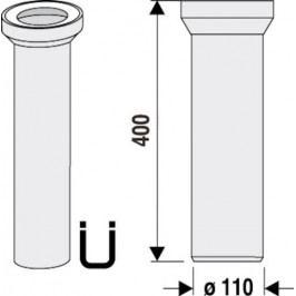 ABU přímý kus odpadní 40 cm 750301