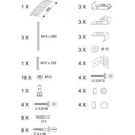 RAVAK Panelkit Rosa univerzální B23000100N
