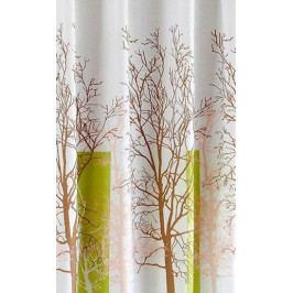 Aqualine polyester bílá/zelená strom ZP009 180 x 200 cm