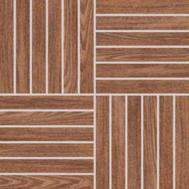 Mozaika Rako Wood hnědá 30x30 cm, mat, rektifikovaná DDV1V620.1