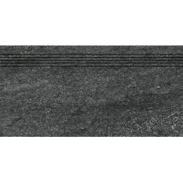 schodovka RAKO QUARZIT černá schodovka 30x60 DCVSE739.1