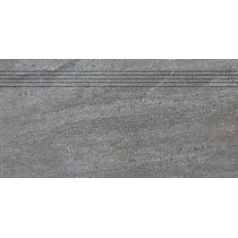 schodovka RAKO QUARZIT tmavě šedá schodovka 30x60 DCPSE738.1