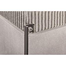 Lišta ukončovací L hliník elox black, 10 mm, 270 cm PTNE10