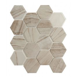 Mozaika sklo hex světlá 26x30 (7,3x8,4)