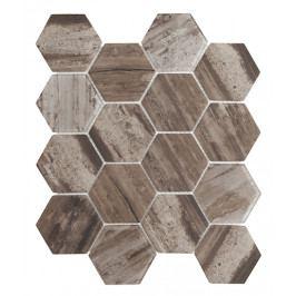 Mozaika sklo hex tmavá 26x30 (7,3x8,4)