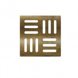 Designová mřížka 102×102 mm bronz-antic