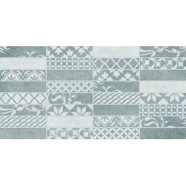 Dekor Multi Borneo patchwork světle šedá 20x40 cm, mat WARMB444.1