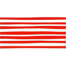 Dekor Fineza Happy červená 20x40 cm, lesk